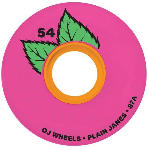 Oj Plain Jane Keyframe 54mm 87a Pink Skateboard Cruiser Filmer Wheels Canada Pickup Vancouver