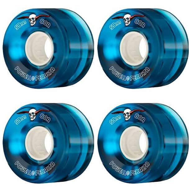 Powell Peralta Clear Cruiser 59mm 80a blue Skateboard Wheels Canada Pickup Vancouver