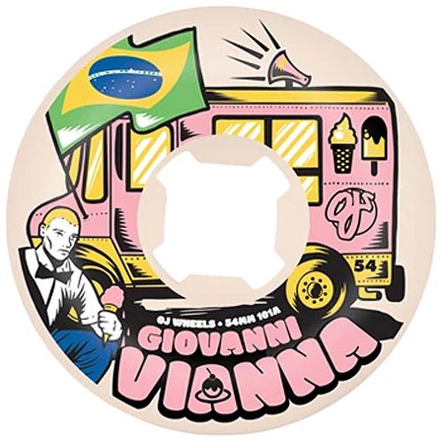 Oj Giovanni Vianna Elite Hardline 54mm 101a White Skateboard Wheels Canada Pickup Vancouver