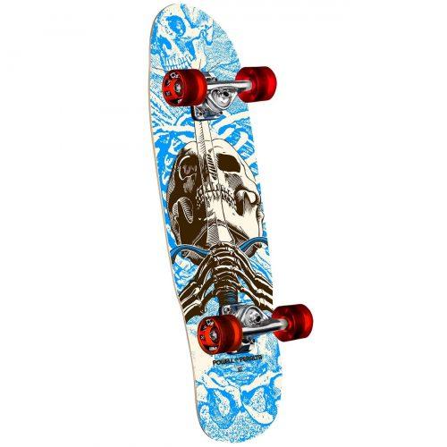 "Powell Peralta Mini Skull and Sword Cruiser Complete Blue 8"" X 30"" Skateboard Canada Pickup Vancouver"
