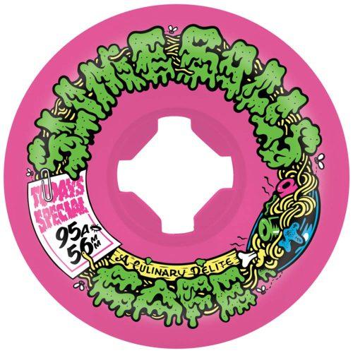 Santa Cruz Slime Balls Double Take Cafe Mini Vomits 56mm 95A Pink/Black