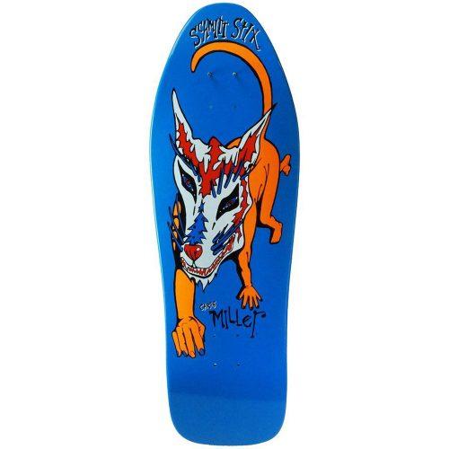 Schmitt Stix Chris Miller Dog Large Reissue Deck 10 x 31.875 WB 15.5 Blue Dip Skateboard Canada Pickup Vancouver