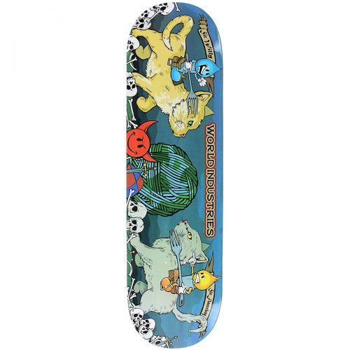 World Industries Cats Jousting Deck 8.25 Navy Skateboard Canada Pickup Vancouver