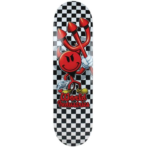 World Industries Devilman Checker Deck 8.0 Black White Skateboard Canada Pickup Vancouver