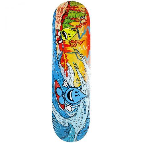 World Industries Global Warming Deck 8.25 Orange Blue Skateboard Canada Pickup Vancouver