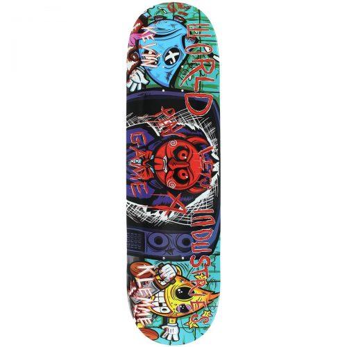 World Industries Kevin Klemme Saw Boys Deck 8.25 x 31.75 Blue Skateboard Canada Pickup Vancouver