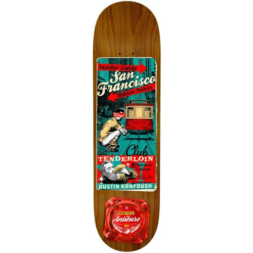 Antihero Austin Kanfoush Motel 8.12 x 32 Assorted Stains Skateboard Canada Pickup Vancouver