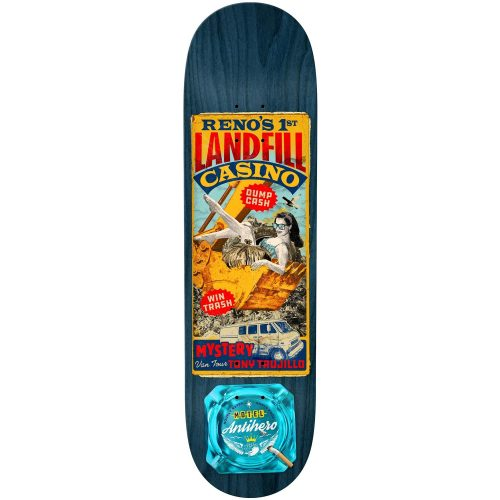 Antihero Tony Trujillo Motel 8.38 x 32.25 Assorted Stains Skateboard Canada Pickup Vancouver