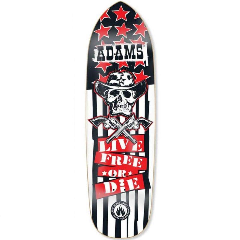Black Label Jason Adams Live Free Reissue Deck 9.5 x 32.75 Black White Red Skateboard Canada Pickup Vancouver