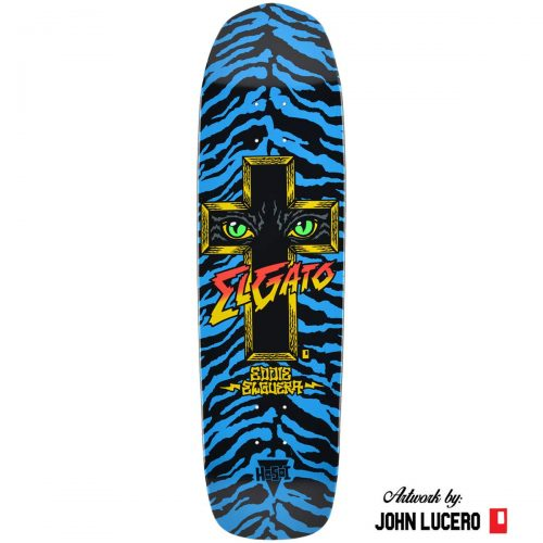 Hosoi Eddie Elguera Cat Eyes Deck 8.75 Blue Dip Art by John Lucero Skateboard Canada Pickup Vancouver