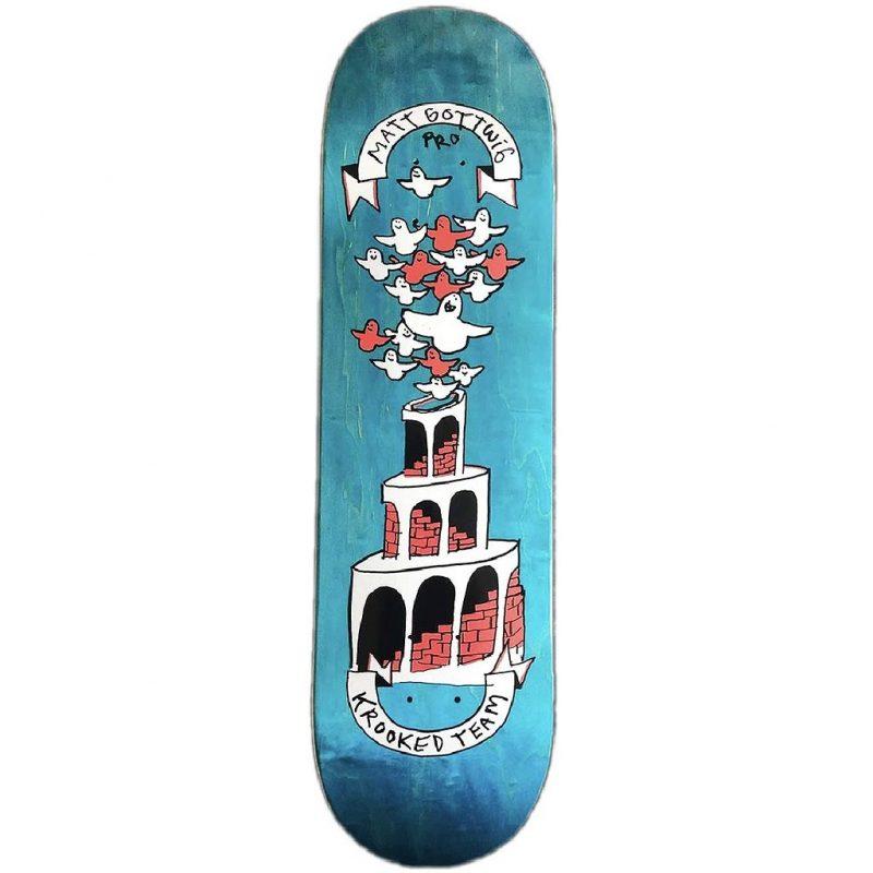 Krooked Matt Gottwig New Pro Deck 8.25 x 32 Blue Skateboard Canada Pickup Vancouver