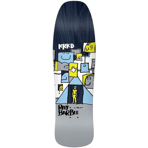 """Krooked Ray Barbee Trifecta Street Shape Deck 9.5"""" x 31.75"""" Assorted Stains Skateboard Canada Pickup Vancouver"""