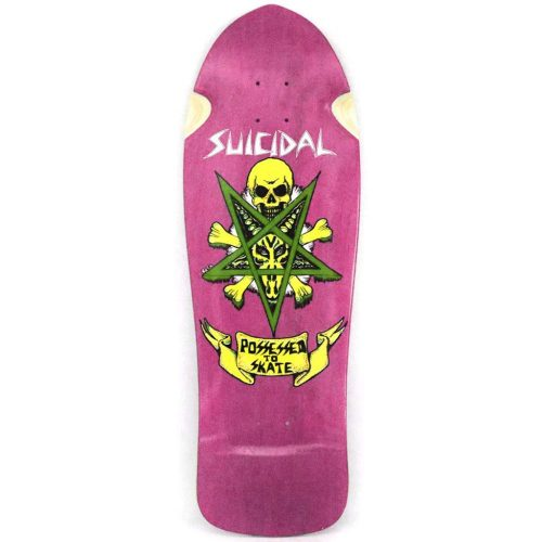 Suicidal Possessed To Skate Reissue Deck 10.125 x 30.5 Pink Stain Skateboard Canada Pickup Vancouver