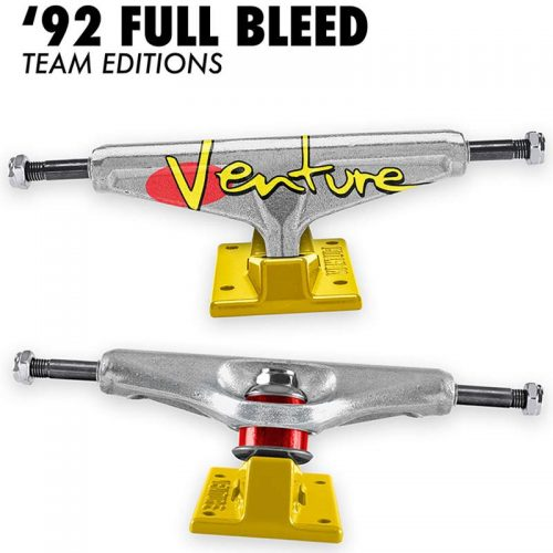 Venture '92 FULL BLEED TEAM EDITION 5.6 Silver Yellow Skateboard Trucks Canada Pickup Vancouver