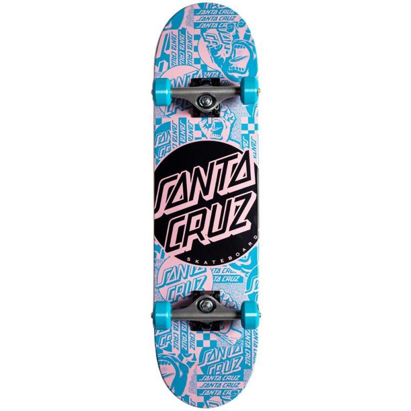 Santa Cruz Flier Dot Full Complete 8 x 31.25 Blue Skateboard Canada Pickup Vancouver