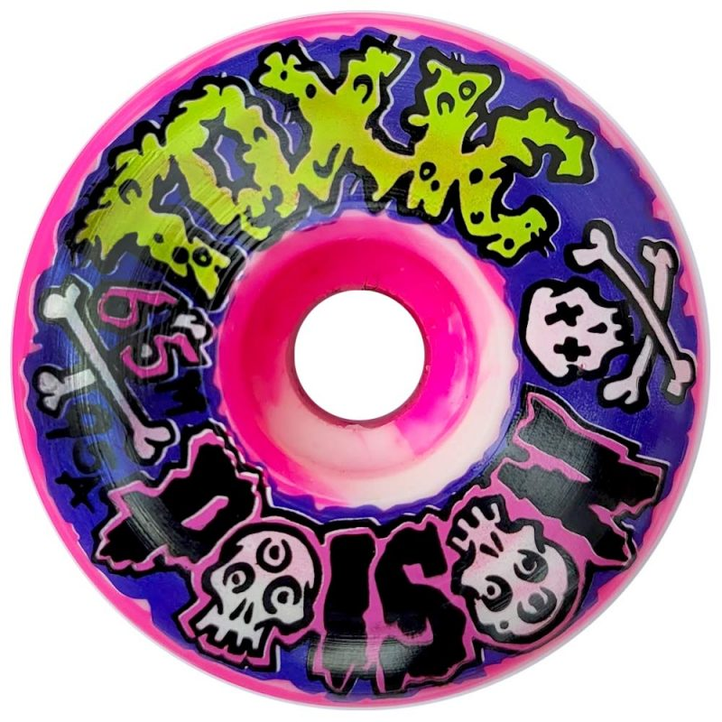 Toxic Poison 2.0 Wheels 65mm 95a Pink/White Swirl Skateboard Canada Pickup Vancouver