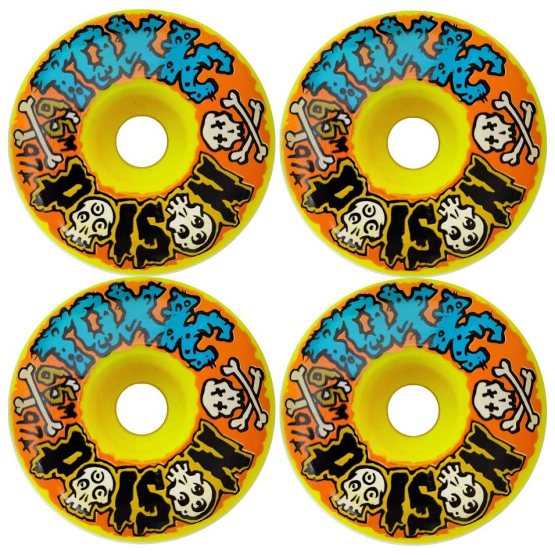 Toxic Poison 2.0 Wheels 65mm 97a Skateboard Canada Pickup Vancouver