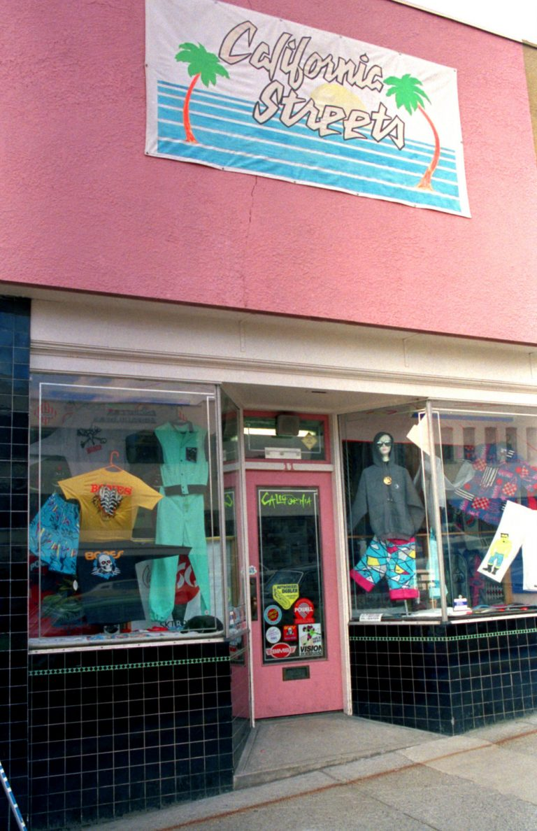 Original Vacuum Land Skateshop in PINK, 11 Lonsdale North Vancouver