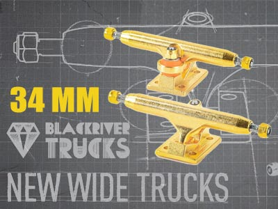 NEW 34mm Blackriver Trucks: Sets trend of plus-sized fingerboard equipment (and takes it even further!)