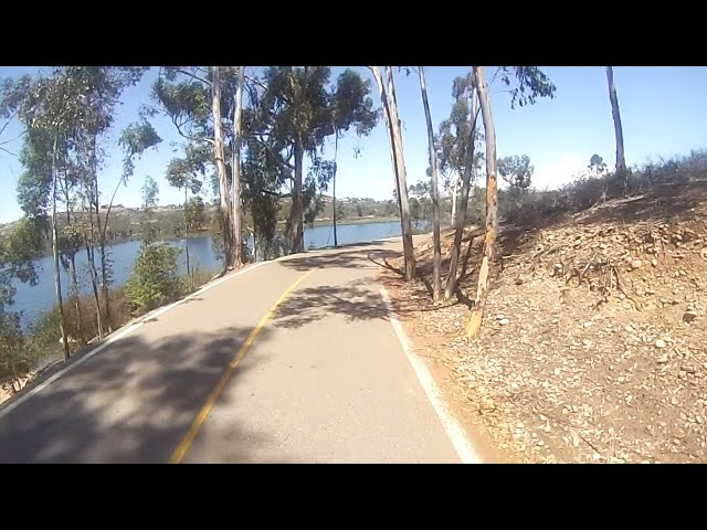 Lake Miramar loop on a Boosted Boards Dual+ skateboard