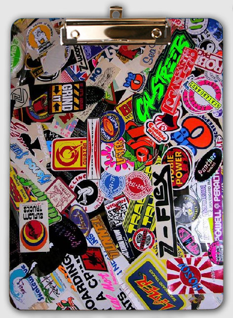 200+ Vintage Skate Sticker Collection 70's 80's