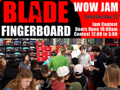 BLADE PARK Fingerjam Contest & Gallery Nov 2017 by CalStreets