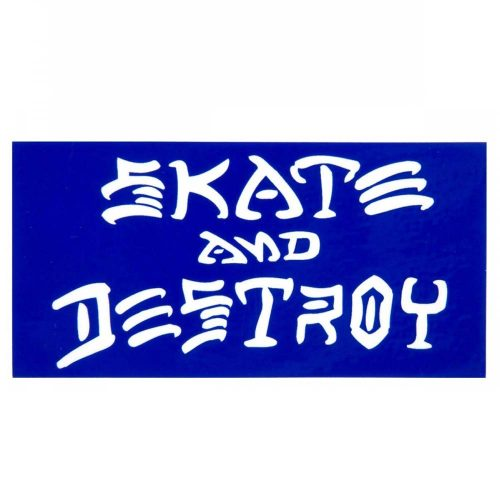 "Thrasher Skate and Destroy Sticker 3.25"" x 6.25"""