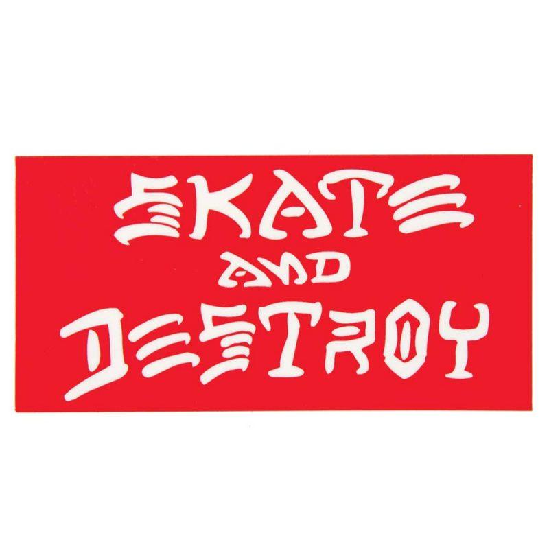 "Thrasher Skate and Destroy Sticker 3.25"" x 6.25"""