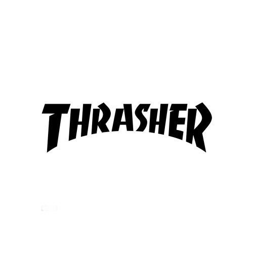 "Thrasher Logo Die Cut Sticker 2.125"" x 5.75"""