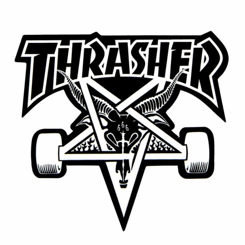 "Thrasher Skategoat Sticker 3.75"" x 3.875"""