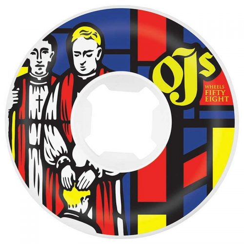 OJ Wheels Stained Glass White 58mm 101A