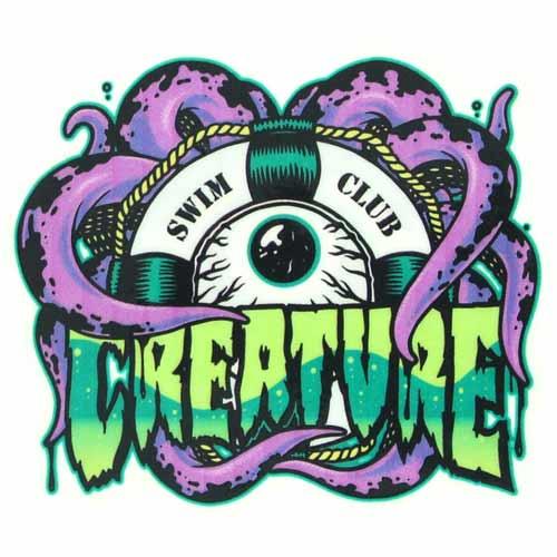 Creature Swim Club Skateboard Sticker 4''