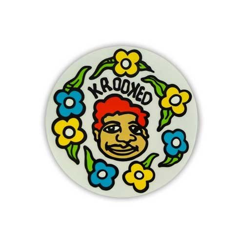 Krooked Skateboard Sticker Gonz 5''
