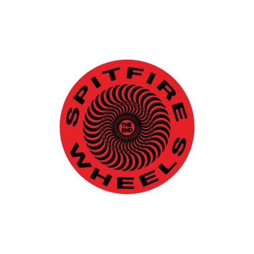 Spitfire The End Sticker 2.5''