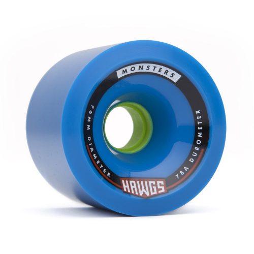 Landyachtz Monster Hawgs 76mm 78a Blue angled