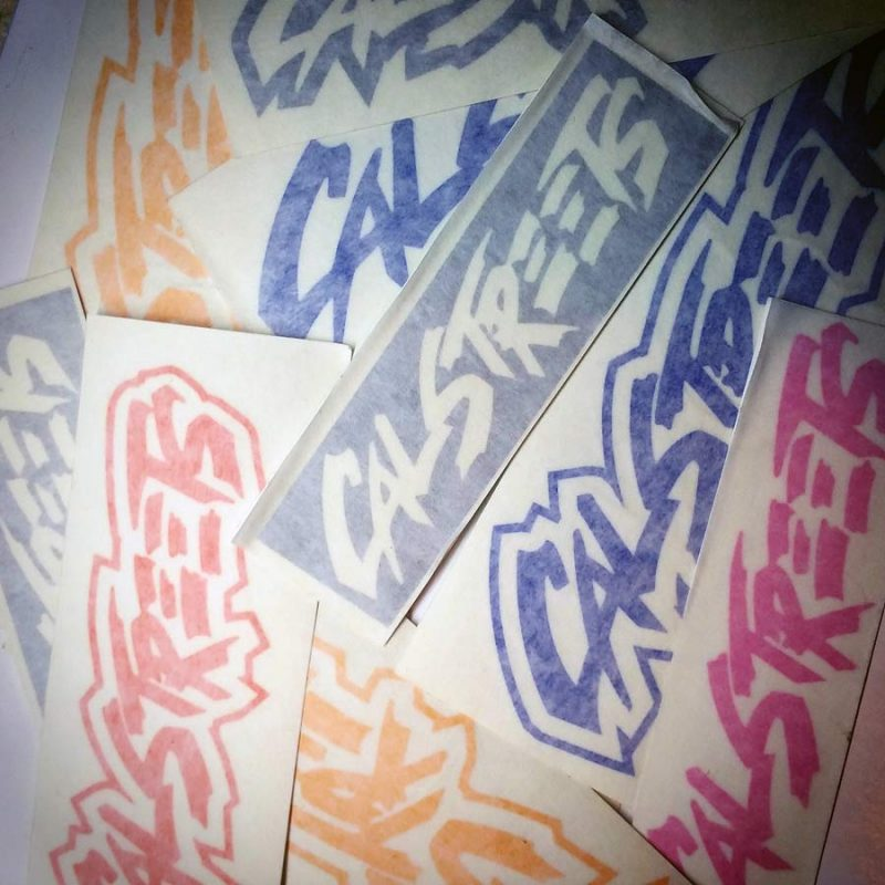 New 2016 CalStreets Stickers Decals by Burn Bros