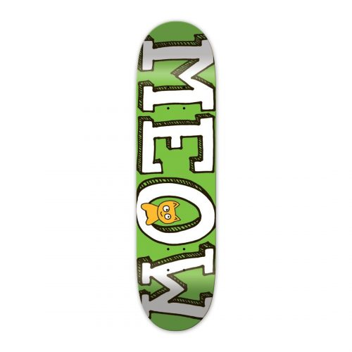 "Meow Skateboards Green Logo Deck 8.25"" x 32.125"""