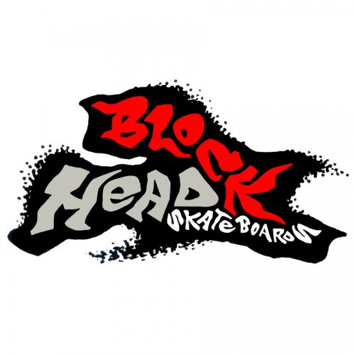 Buy Blockhead Skateboards and Reissues Canada Online sales Vancouver Pickup BLOCKHEAD-SKATEBOARDS-SPLAT-STICKER-HORIZ