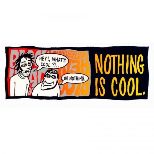 Buy Blockhead Skateboards and Reissues Canada Online sales Vancouver Pickup BLOCKHEAD-STICKER-NOTHING-IS-COOL