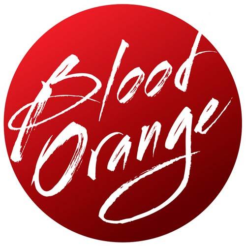 "Blood Orange 3"" x 3"" Circle Sticker - RED"