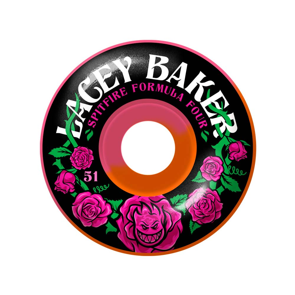 Buy Spitfire Formula 4 Lacey Pereninial 50/50 Swirl 51mm 99a Pink/Orange Canada Online Sales Vancouver Pickup