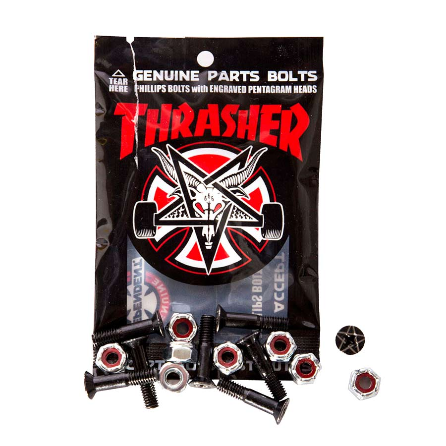 """Buy Independent x Thrasher Countersunk Hardware 1"""" Black/Silver Canada Online Sales Vancouver Pickup"""
