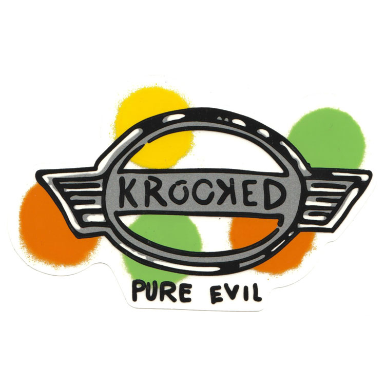 "Krooked Skateboards Pure Evil 3.5"" x 5.5"" Sticker"
