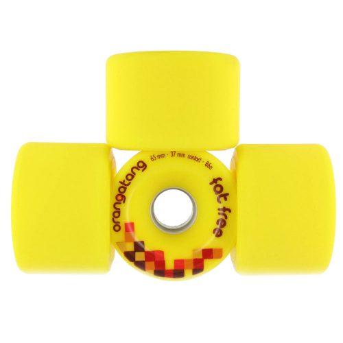 Orangatang Fat Free 65mm 86a Yellow Set
