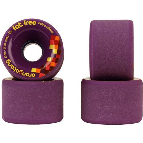 Orangatang Fat Free 65mm 83a Purple set