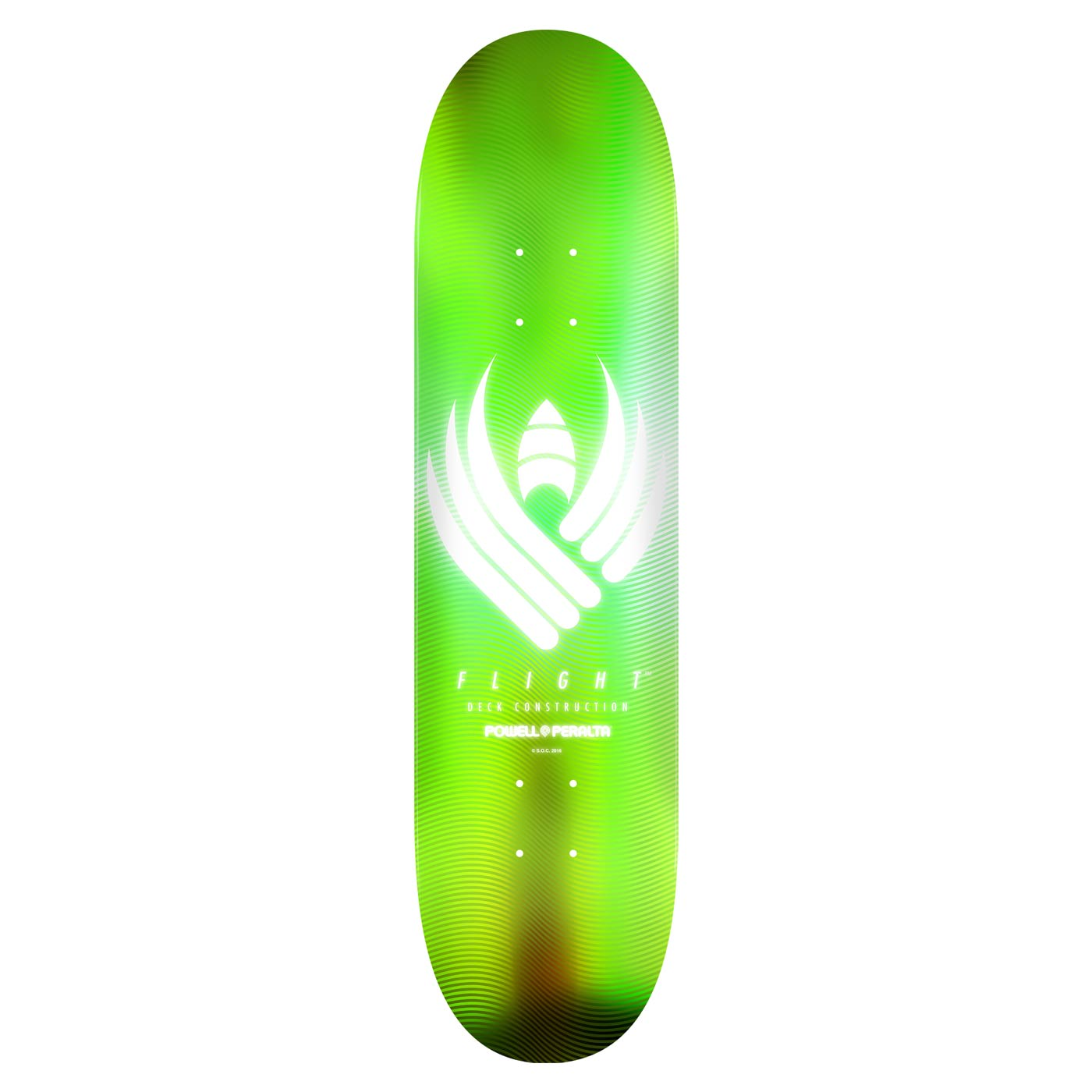 "Powell Peralta Flight 242 Skateboard Deck Black Teal 8/"""