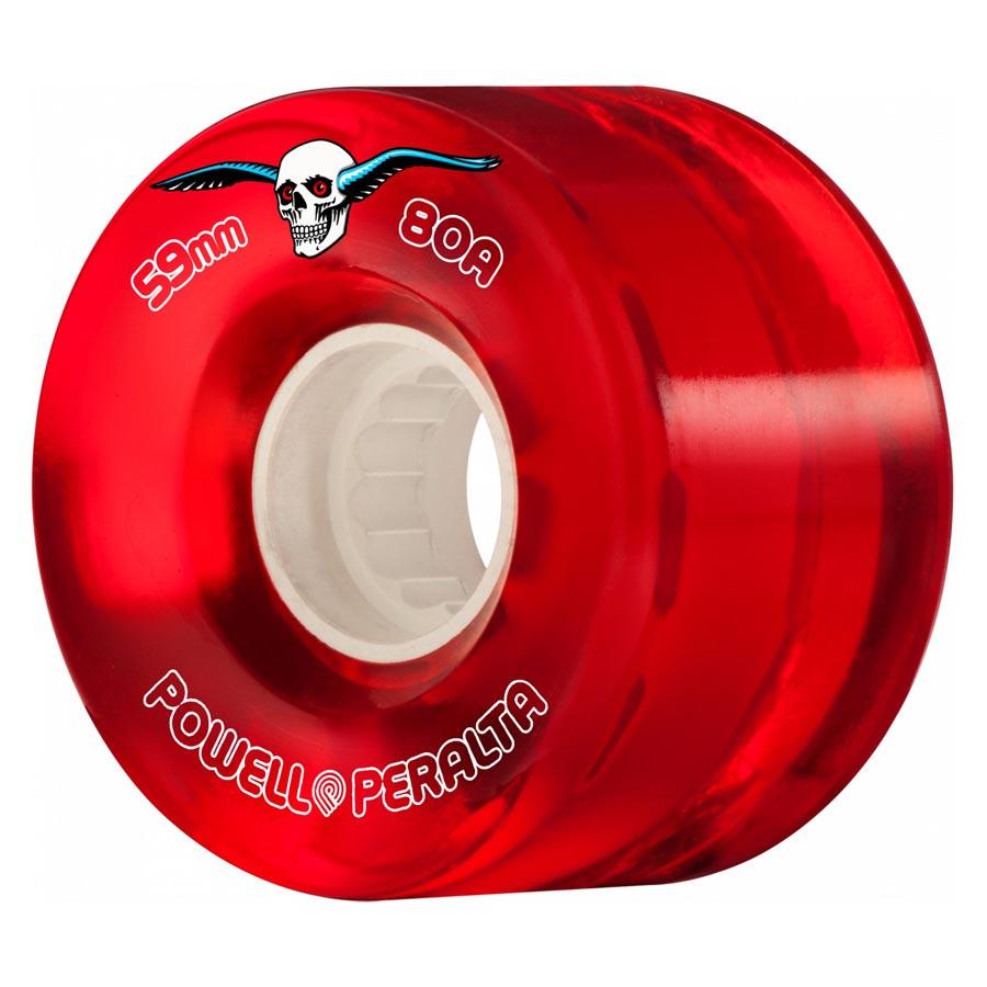 Powell-Peralta-Clear-Cruiser-Skateboard-Wheel-Red-59mm-80A