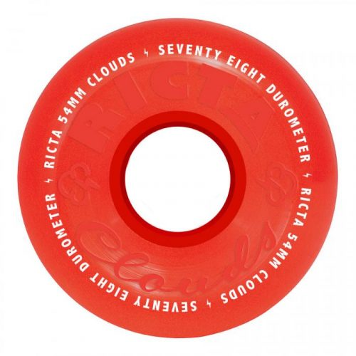 Ricta Crystal Clouds Wheels Red 54mm 78A