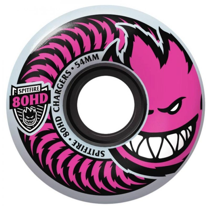 Spitfire Chargers 54mm 80HD Pushing for Pink Wheels9a