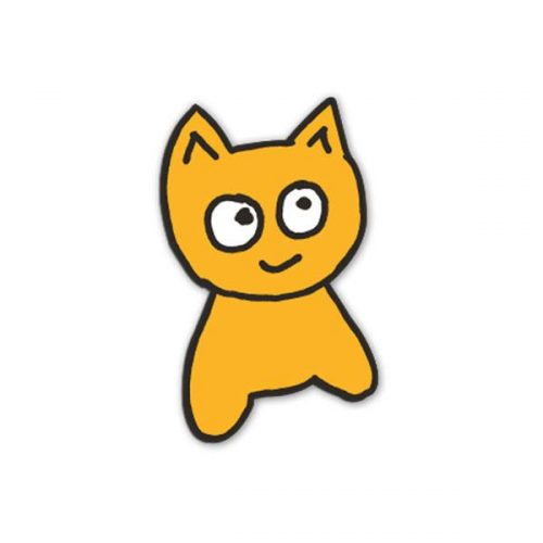 """Cat Sticker Buy Meow Skateboards Blue Patch 2.5"""" Canada Online Sales Vancouver Pickup"""